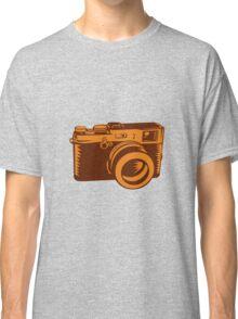Camera 35mm Vintage Woodcut Classic T-Shirt