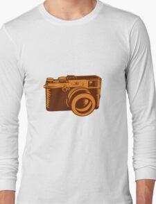 Camera 35mm Vintage Woodcut Long Sleeve T-Shirt