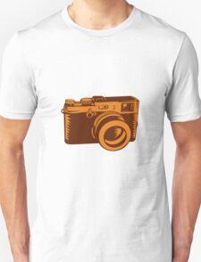 Camera 35mm Vintage Woodcut T-Shirt