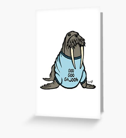 I am the Walrus Greeting Card