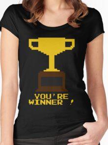 You're Winner 8-Bit Women's Fitted Scoop T-Shirt