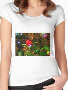Red Sparkle Women's Fitted Scoop T-Shirt
