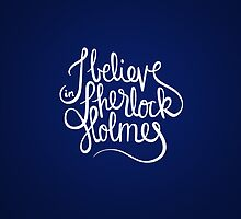 Believe in Sherlock (iPhone) by nowaitwhat
