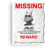 Missing Jinjo Canvas Print