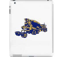 Cement Truck Rear Woodcut iPad Case/Skin