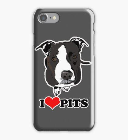 I love Pit Bulls Case iPhone Case/Skin