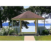 Arbor with Lake View  Photographic Print