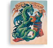 Book Wyrm Canvas Print