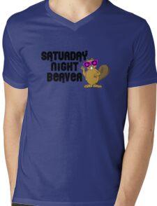 Saturday Night Beaver! Mens V-Neck T-Shirt