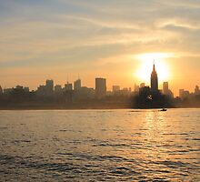 Sun Behind Empire State Building by pmarella