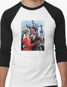 Captain Swan Fairy Tale Watercolor Design 2 Men's Baseball ¾ T-Shirt