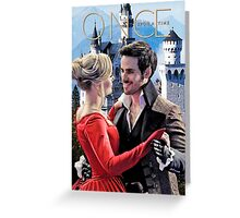 Captain Swan Fairy Tale Watercolor Design 2 Greeting Card