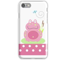 Fiona the Pink Pond Frog Case iPhone Case/Skin