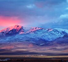 First sunset snow Tule Peak by SB  Sullivan