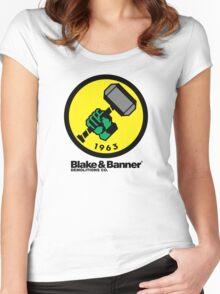 Blake & Banner Demolitions Co. (Big Logo) Women's Fitted Scoop T-Shirt