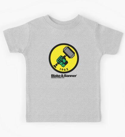 Blake & Banner Demolitions Co. (Big Logo) Kids Tee