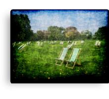 Folding Chairs Canvas Print