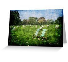 Folding Chairs Greeting Card