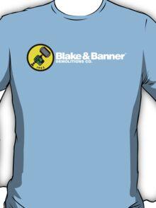 Blake & Banner Demolitions Co. (White Text) T-Shirt