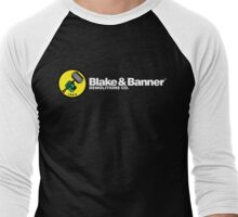 Blake & Banner Demolitions Co. (White Text) Men's Baseball ¾ T-Shirt