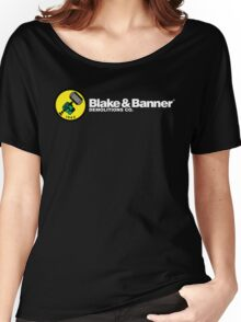 Blake & Banner Demolitions Co. (White Text) Women's Relaxed Fit T-Shirt