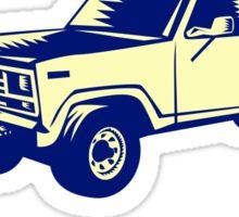 Snow Plow Truck Woodcut Sticker