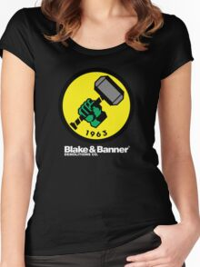 Blake & Banner Demolitions Co. (Big Logo White Text) Women's Fitted Scoop T-Shirt