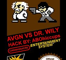 AVGN VS Dr. Wily NES Box Art by ABOhiccups