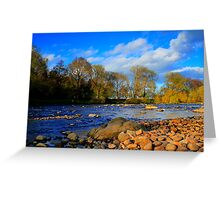 River Tees, North England. Late Afternoon Sun, April 2012 Greeting Card