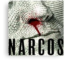 Narcos TV series v2 Canvas Print