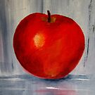 AN APPLE A DAY- Acrylic painting by Esperanza Gallego