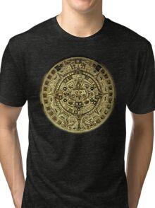 ©HS Aztec Sun Calendar I Tri-blend T-Shirt