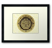 ©HS Aztec Sun Calendar I Framed Print