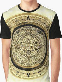 ©HS Aztec Sun Calendar I Graphic T-Shirt