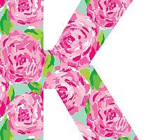 """""""K"""" Rose Letter by emmytyga"""