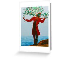 dreaming of a tree by the sea Greeting Card