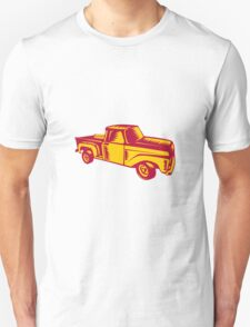 Vintage Pick Up Truck Woodcut T-Shirt