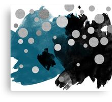 Smudge - Blue and Black Canvas Print