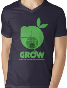 Oxfam: Grow (Design Two) Mens V-Neck T-Shirt