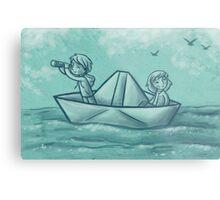 Paper Boat Adventures Metal Print