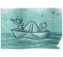 Paper Boat Adventures Poster