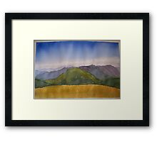 The cross cut saw from Mt Howitt Framed Print