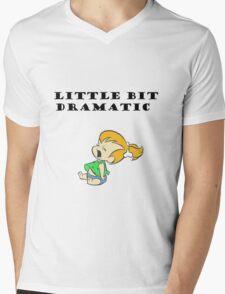 Little Bit Dramatic (Pebbles Flintstone) Mens V-Neck T-Shirt
