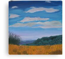 A view of The Vic. Alps from the Howitt high plains Canvas Print
