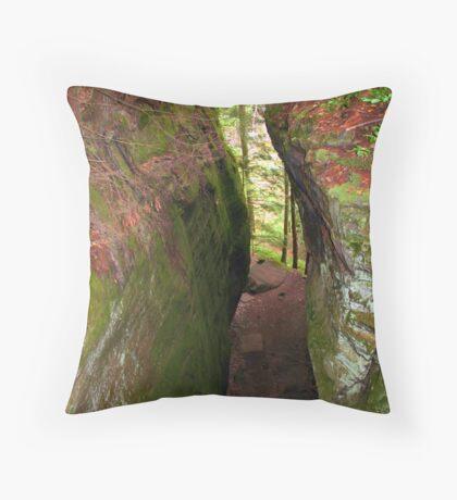 A Narrow Chasm Throw Pillow