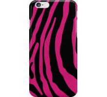 Hot Pink Zebra Stripe Case iPhone Case/Skin