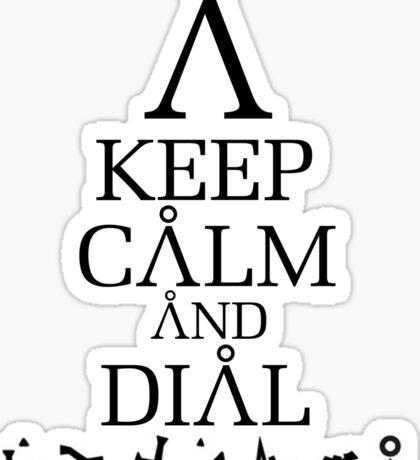 Stargate SG1 - Keep Calm and Dial Earth Sticker