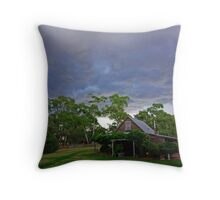 Storm clouds over Paramoor Winery Throw Pillow