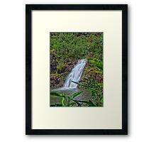 Waimea Falls, Hawaii. Framed Print