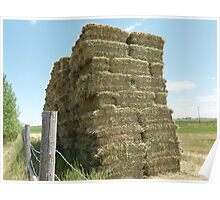 The haybale stack Poster
